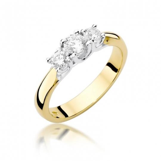 Złoty pierścionek z diamentem EY-344 0,49ct