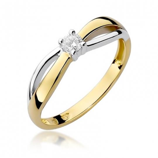 Złoty pierścionek z diamentem EY-248 0,10ct