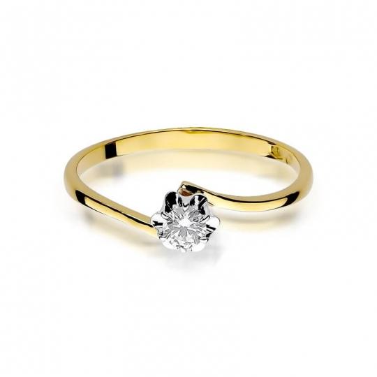 Złoty pierścionek z diamentem EY-232 0,10ct