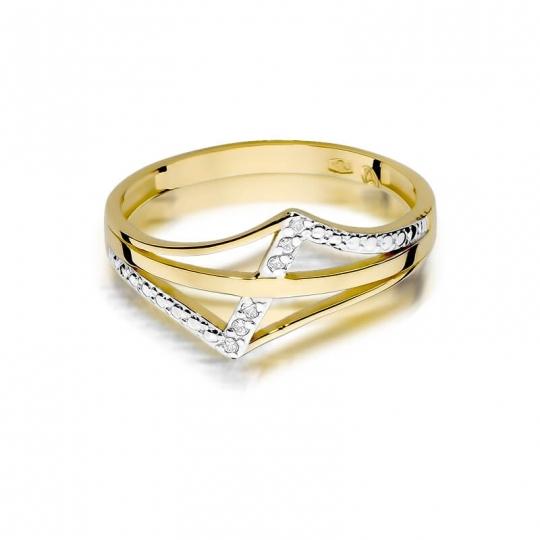 Złoty pierścionek z diamentem EY-114 0,03ct