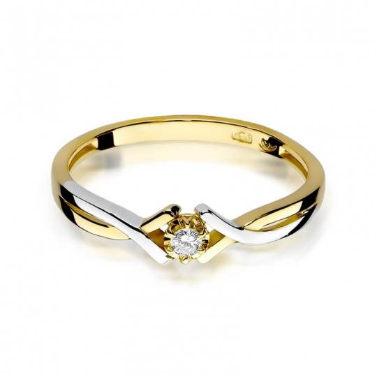 Złoty pierścionek z diamentem EY-190 0,04ct