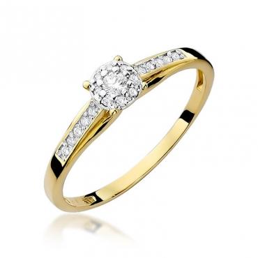 Złoty pierścionek z diamentem EY-34 0,13ct