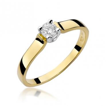 Złoty pierścionek z diamentem EY-244 0,20ct