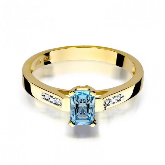 Złoty pierścionek z diamentem EY-78 topaz