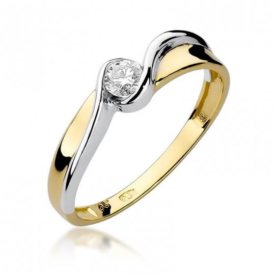 Złoty pierścionek z diamentem EY-278 0,15ct