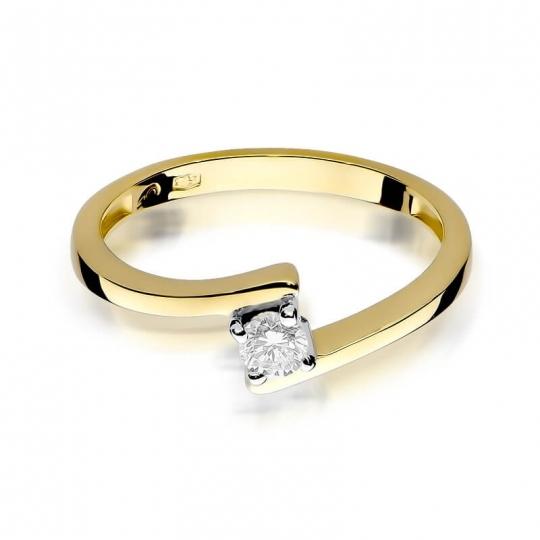 Złoty pierścionek z diamentem EY-260 0,15ct