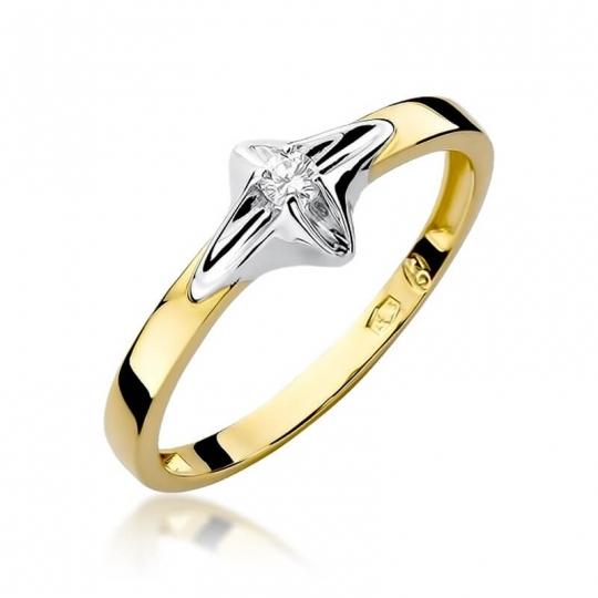 Złoty pierścionek z diamentem EY-30 0,05ct