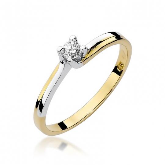 Złoty pierścionek z diamentem EY-93 0,08ct