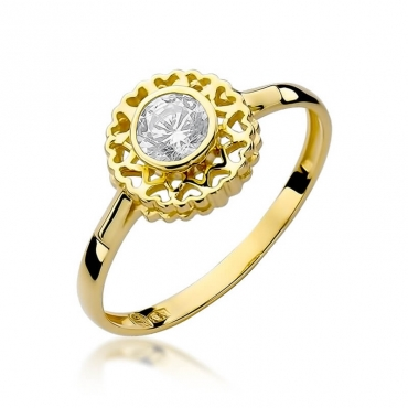 Złoty pierścionek z diamentem EY-149 0,30ct