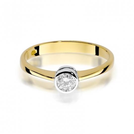 Złoty pierścionek z diamentem EY-224B 0,30ct