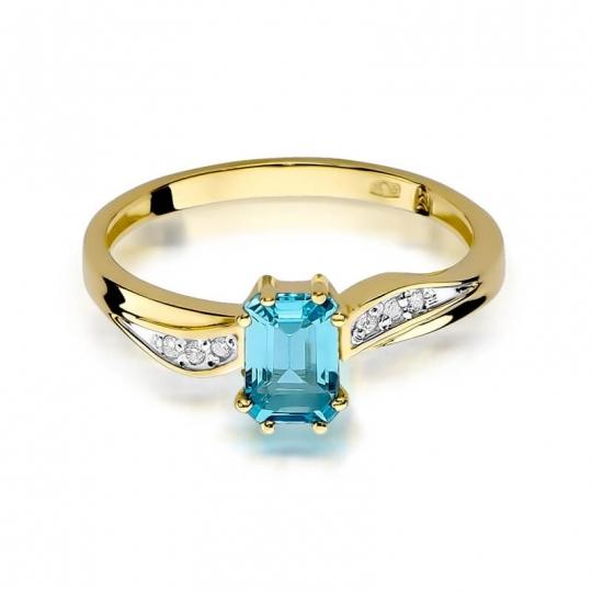 Złoty pierścionek z diamentem EY-94 topaz