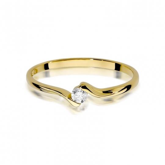 Złoty pierścionek z diamentem EY-332 0,09ct