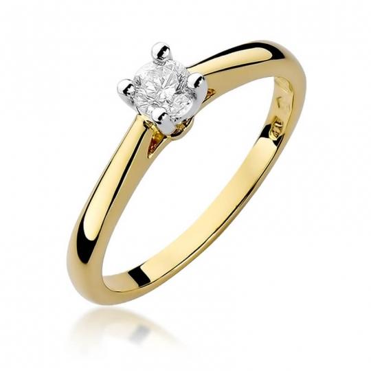 Złoty pierścionek z diamentem EY-298 0,25ct