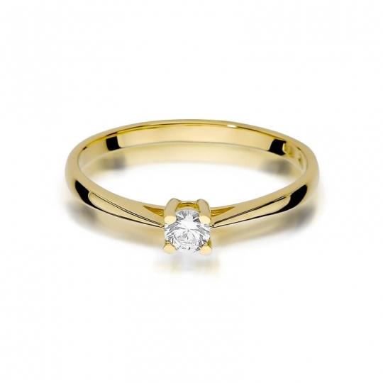 Złoty pierścionek z diamentem EY-367 0,15ct