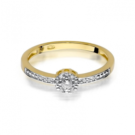 Złoty pierścionek z diamentem EY-91 0,09ct
