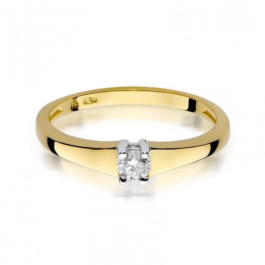 Złoty pierścionek z diamentem EY-257 0,15ct