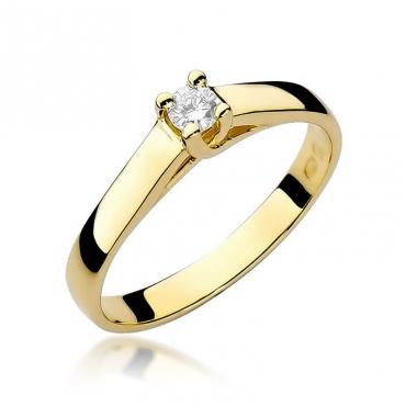 Złoty pierścionek z diamentem EY-70 0,10ct