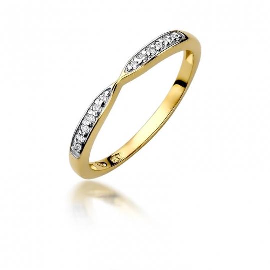 Złoty pierścionek z diamentem EY-425 0,10ct