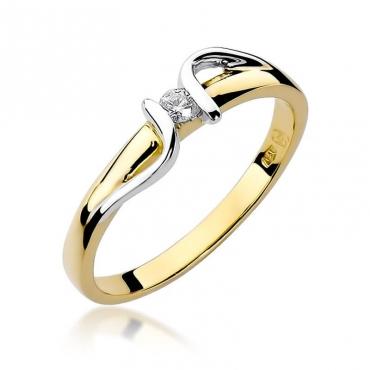 Złoty pierścionek z diamentem EY-25 0,05ct