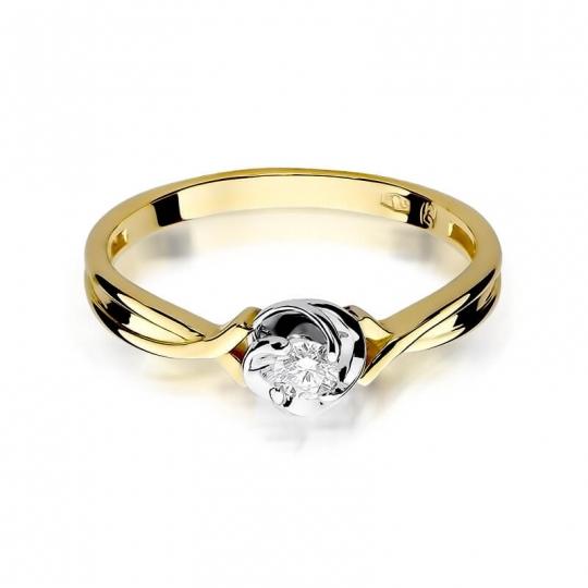 Złoty pierścionek z diamentem EY-329 0,10ct