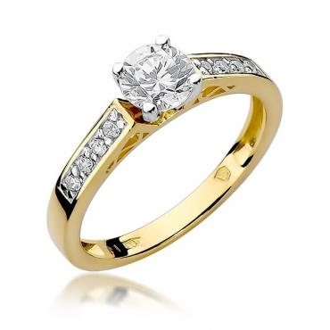 Złoty pierścionek z diamentem EY-198 0,42ct