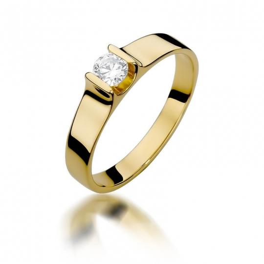 Złoty pierścionek z diamentem EY-388 0,23ct