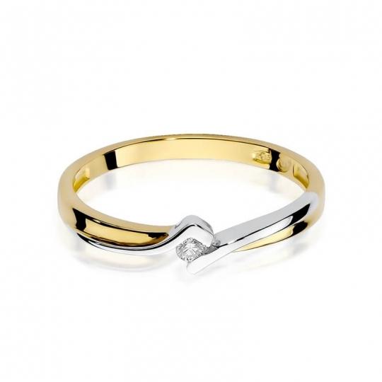 Złoty pierścionek z diamentem EY-181 0,04ct