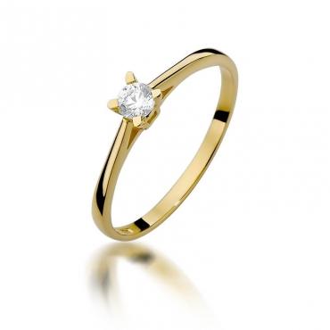 Złoty pierścionek z diamentem EY-392 0,15ct
