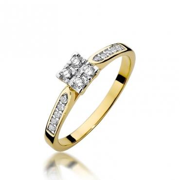Złoty pierścionek z diamentem EY-402 0,16ct