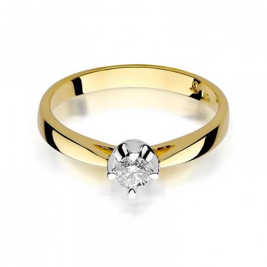 Złoty pierścionek z diamentem EY-293 0,20ct