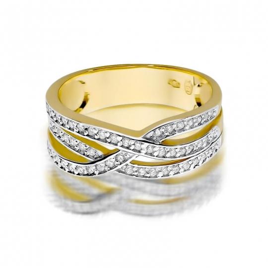 Złoty pierścionek z diamentem EY-215 0,27ct