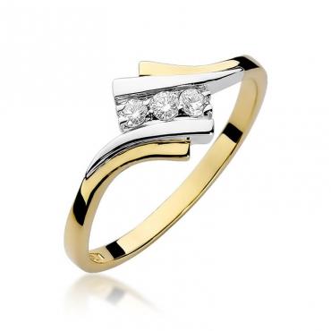 Złoty pierścionek z diamentem EY-247 0,09ct