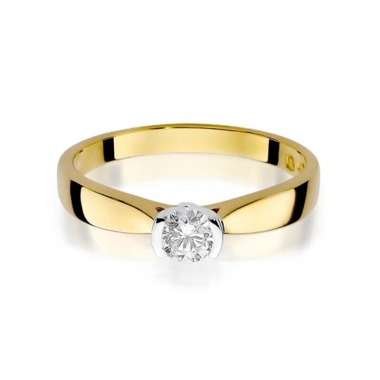 Złoty pierścionek z diamentem EY-223B 0,25ct