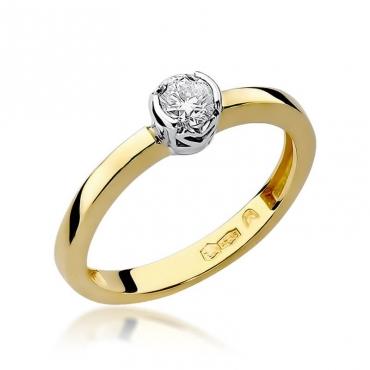Złoty pierścionek z diamentem EY-131 0,25ct