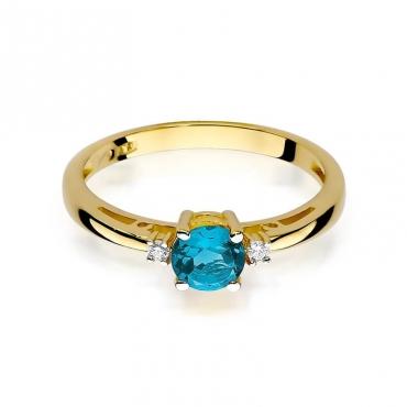 Złoty pierścionek z diamentem EY-10 topaz