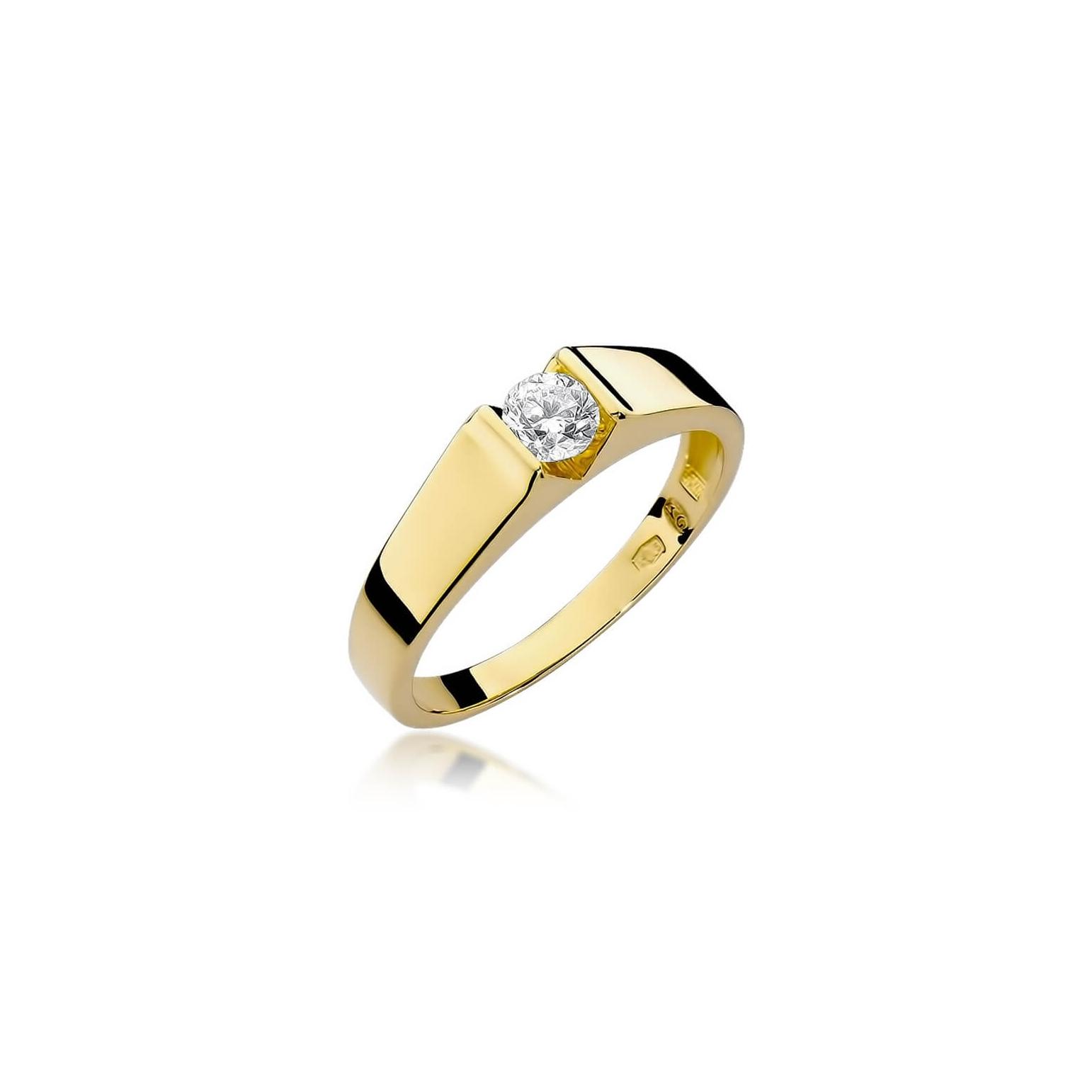 dd0f6572331fbb Złoty pierścionek z diamentem EY-33 0,30ct | ERgold