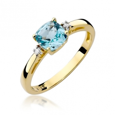 Złoty pierścionek z diamentem EY-3 topaz