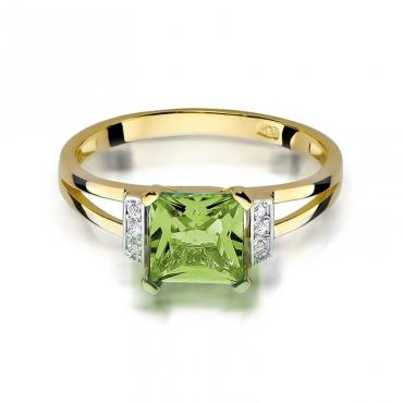 Złoty pierścionek z diamentem EY-103 oliwin