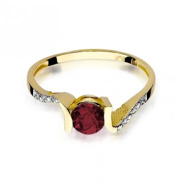 Złoty pierścionek z diamentem EY-120 granat