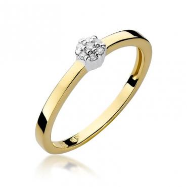 Złoty pierścionek z diamentem EY-100 0,04ct