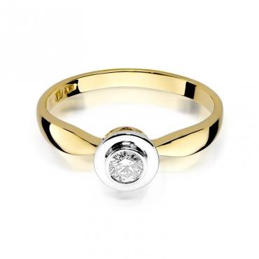 Złoty pierścionek z diamentem EY-294 0,20ct