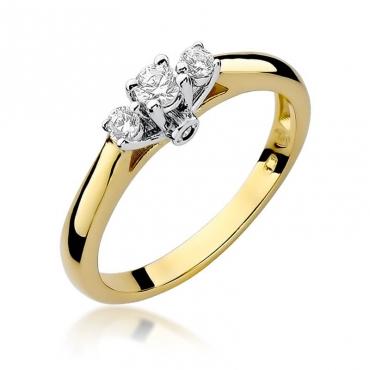 Złoty pierścionek z diamentem EY-69 0,22ct
