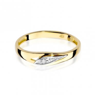 Złoty pierścionek z diamentem EY-183 0,03ct