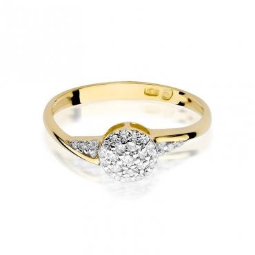 Złoty pierścionek z diamentem EY-18 0,20ct