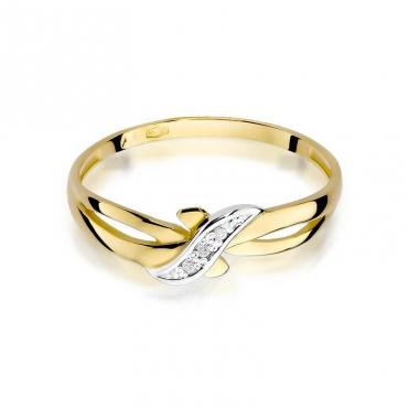 Złoty pierścionek z diamentem EY-193 0,02ct