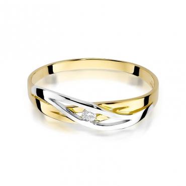 Złoty pierścionek z diamentem EY-156 0,05ct