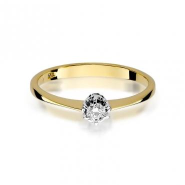 Złoty pierścionek z diamentem EY-129 0,10ct