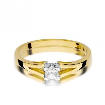 Złoty pierścionek z diamentem EY-350 0,30ct
