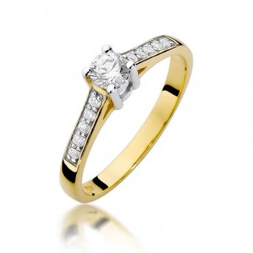 Złoty pierścionek z diamentem EY-398 0,42ct