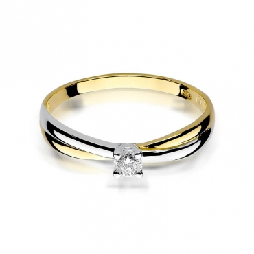 Złoty pierścionek z diamentem EY-230 0,10ct